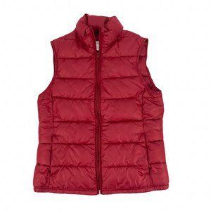 Banana Republic Puffer Vest Sz Small Red Full Zip